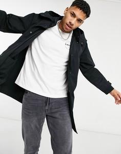 Черная куртка-парка с капюшоном и разрезом сзади Levis Mission-Черный цвет