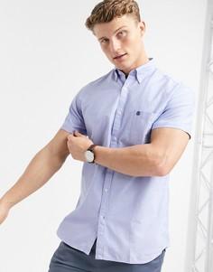 Рубашка с короткими рукавами Selected Homme-Голубой