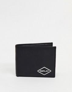Бумажник с логотипом Replay-Черный цвет