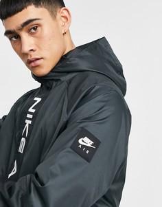 Черная/серая куртка с капюшоном Nike Air-Черный цвет