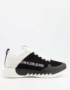 Черно-белые кроссовки Calvin Klein Jeans Angus-Черный цвет