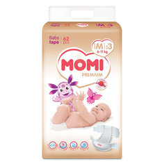 Подгузники Momi Premium M (6-11 кг) 62 шт