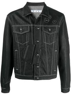 Off-White джинсовая куртка Arrow Twist