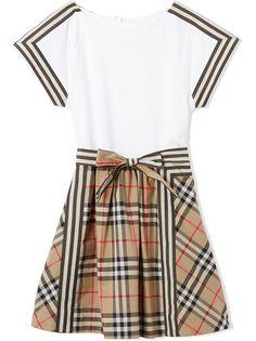 Burberry Kids платье с принтом Vintage Check