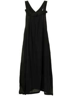 Ys платье-фартук с оборками Y's