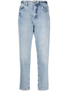 Patrizia Pepe укороченные джинсы с эффектом потертости