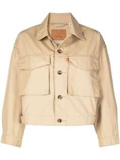 Levis укороченная джинсовая куртка