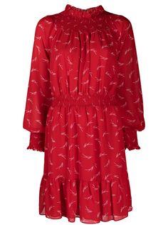 Michael Michael Kors расклешенное платье со сборками