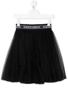 Dolce & Gabbana Kids юбка А-силуэта с логотипом на поясе