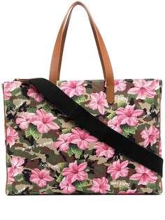 Golden Goose сумка-тоут с цветочным принтом