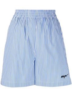 MSGM шорты в полоску с эластичным поясом
