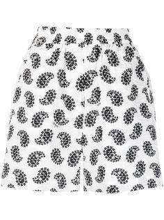 MSGM шорты с принтом пейсли и эластичным поясом