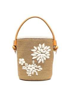 Ermanno Scervino плетеная сумка-ведро с вышивкой