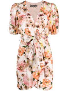 Patrizia Pepe платье мини с запахом и цветочным принтом