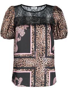 LIU JO футболка с леопардовым принтом