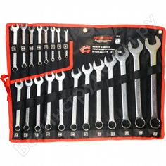 Набор комбинированных ключей abtomtool рroffi 20 пр, din3113, crv, 6-32мм, сумка 555520