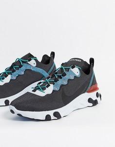 Серо-синие кроссовки Nike React Element 55-Многоцветный
