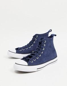 Темно-синие кроссовки Converse Chuck Taylor All Star Hi Mountain Club-Зеленый цвет