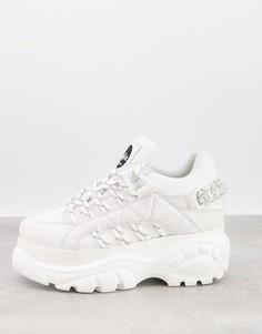 Белые походные кроссовки на толстой подошве Buffalo Classic-Белый