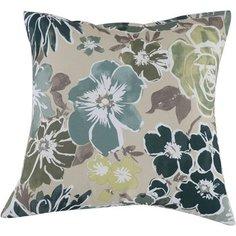 Декоративная подушка для мебели Pillow с цветами 40х40 см Без бренда