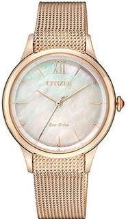 Японские наручные женские часы Citizen EM0813-86Y. Коллекция Elegance
