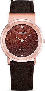 Японские наручные женские часы Citizen EG7072-19X. Коллекция Super Titanium