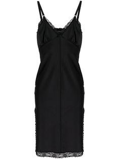 alexanderwang.t платье-комбинация с кружевной отделкой