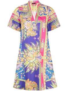 Etro платье-трапеция с цветочным принтом