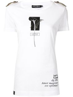 Dolce & Gabbana футболка с цветочным принтом