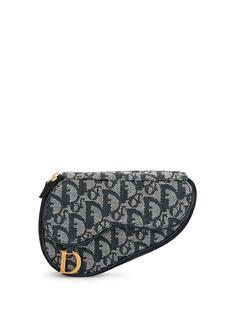 Christian Dior клатч Saddle pre-owned с узором Trotter