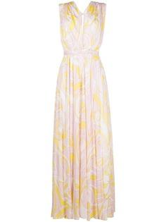 Emilio Pucci платье макси с абстрактным принтом