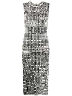 Thom Browne платье-футляр в клетку Windowpane