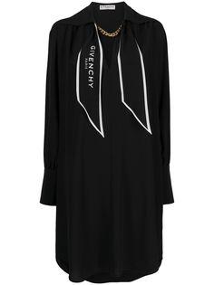Givenchy платье-рубашка с логотипом