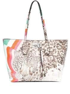 Salvatore Ferragamo сумка-тоут с леопардовым принтом
