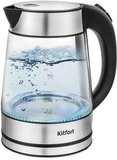 Электрочайник Kitfort КТ-6105 (черный/нержавеющая сталь)
