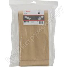 Комплект 5 бумажных мешков для сухой пыли для пылесоса gas 55 bosch 2607432036