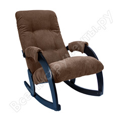 Кресло-качалка комфорт модель 67 венге, ткань verona brown 31293