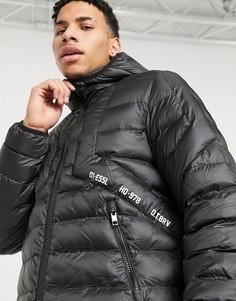 Дутая куртка Diesel W-Dwain-Черный цвет