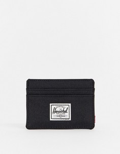 Темно-синяя визитница Herschel Supply Co-Черный цвет
