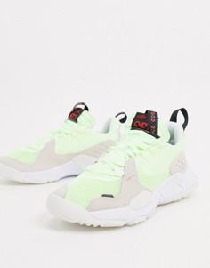 Серые кроссовки с неоновыми вставками Jordan Delta-Белый
