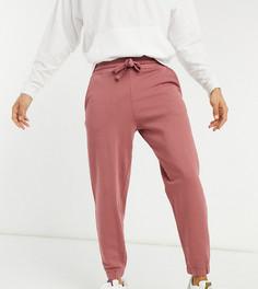 Джоггеры в стиле oversized выбеленного брусничного цвета от комплекта ASOS DESIGN Tall-Фиолетовый цвет