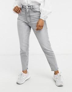 Серые винтажные джинсы узкого кроя из эластичного органического хлопка Stradivarius-Серый