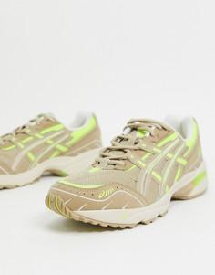 Светло-бежевые кроссовки Asics gel 1090-Бежевый