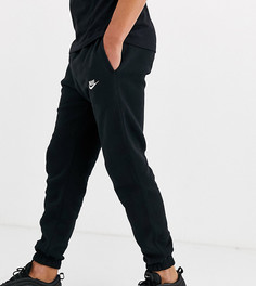 Черные джоггеры в стиле casual с манжетами Nike Tall Club-Черный цвет