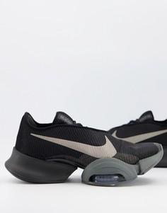 Черные/серые кроссовки Nike Training Air Zoom SuperRep 2-Черный цвет