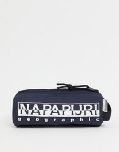 Темно-синий пенал Napapijri Happy-Голубой