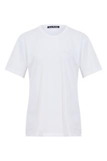 Белая хлопковая футболка Acne Studios
