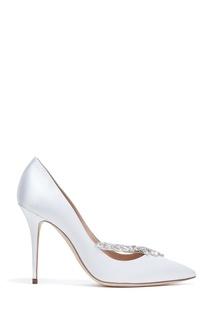 Белые туфли Nadira Satin 105 Manolo Blahnik