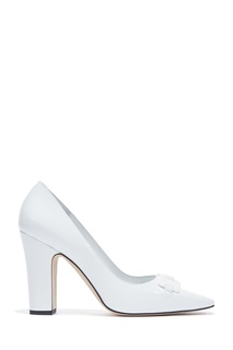 Белые туфли Gona Patent 105 Manolo Blahnik