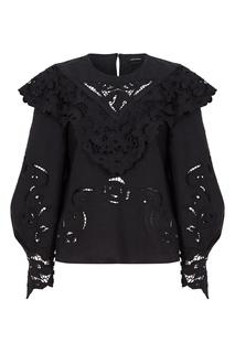 Черная льняная блузка Eloine Isabel Marant